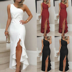 Women Evening Gown Mermaid Maxi Party Long One Shoulder Cocktail Prom Dress US $20.69