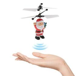 Santa Electric Flying Ball Sensor Toy Helicopter Drone Xmas Kids Toys Gift $9.17