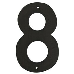 6quot; Rustic Brown Cast Iron Metal House Number 8 Home Street Address Phone Numbers