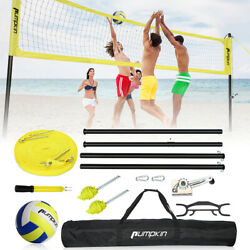 32FT Portable Volleyball Tennis Net Set with Adjustable Poles for Outdoor Games $125.31