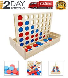 Giant Connect 4 Large Outdoor Games Yard Big Huge Four Lawn Wooden Jumbo Gam NEW $19.99