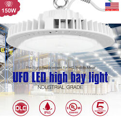 LED UFO High Bay Light 150W 22000LM Industrial Commercial Lighting Fixture DLC