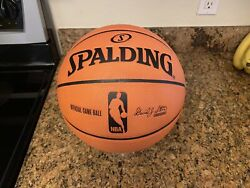 Official Spalding 2006 Cross Traxxion NBA Game Ball Basketball 76ers Team Issued $249.95