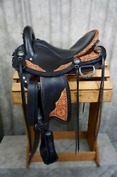 New Western Endurance leather saddle on 17quot; with cow softie seat All sizes $639.98