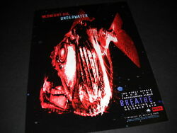 MIDNIGHT OIL are UNDERWATER with a strange looking fish 1996 PROMO DISPLAY ADVT $9.95