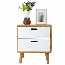 Nordic Simples Bedside Table Bedroom Nightstand With 2 Drawers Storage Table $69.40
