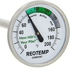 REOTEMP Backyard Compost Thermometer 20 Inch Stem with PDF Composting Guide $38.98