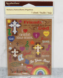 Recollections Vacation Bible School Scrapbooking stickers Aloha Cross Kids VBS $2.99