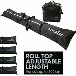 Athletico Adjustable Ski Bag and Boots Bag combo Fits Skis 203cm Boots US 13 NWT $33.96