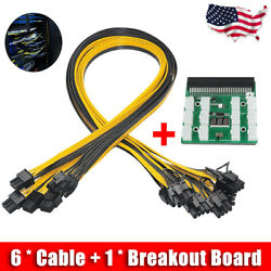 Server Adapter Breakout Board PSU Power Supply HP 1200W GPU 6 to 62 Cables US $25.99