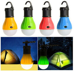 4 Pack Portable Camping Tent Light Bulb Led Outdoor Hanging Fishing Lantern Lamp $7.99