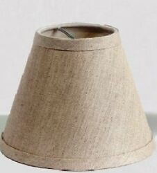 New Finishing Touch 3650HB SKRCM Chandelier Parchment Mini Lamp Shade Beige $8.95