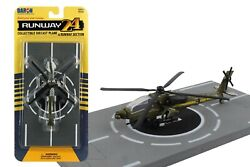 RUNWAY 24 AH 64 US ARMY APACHE HELICOPTER DIE CAST RW010 $6.50