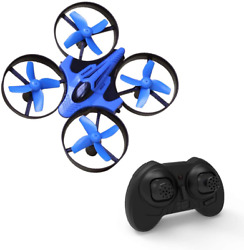 Mini Quadcopter Drone for Indoor and Outdoor Headless Mode 3D Flip Blue in Color $28.04