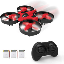 Mini Quadcopter Drone for Indoor and Outdoor Headless Mode 3D Flip Red in Color $30.82