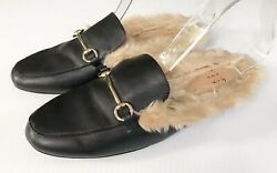 A New Day Womens 8 M Faux Leather Fur Backless Mules Rebe Black Target Shoes $29.99