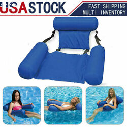 Adult Inflatable Water Floating Bed Hammock Lounge Chair Swimming Pool Fun Toy $12.99