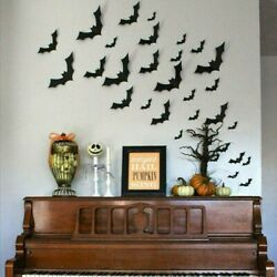 Lot Halloween 3D Bat Wall Decals Party Scary Spooky Black Decoration Stickers US $5.99