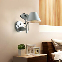 Modern Hat Shaped Reading Light Wall mounted Wall Lamp Metal Bedroom Decor $25.66