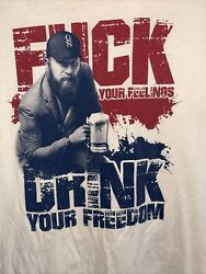 Grunt Style t shirt mens XL Drink Your Freedom Gs Patriot American Veteran $14.99