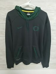 Nike Therma Fit Mens Oregon Ducks Hoodie Size Large Embroidered Logos $24.99
