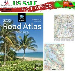 Rand Mcnally USA Road Atlas 2022 BEST Large Scale Travel Maps USA Midsize NEW $13.58