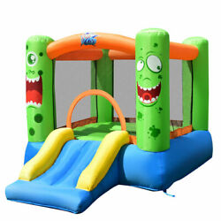 Inflatable Bounce House Jumper Castle Kids Playhouse w Basketball Hoop Outdoor $139.50