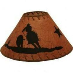 Lamp Shade 15quot; with Cowboy Lasso Front $12.95