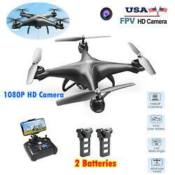 Holy Stone HS110D FPV RC Drones with 1080P HD Camera WiFi Quadcopter 2 Batteries $64.99