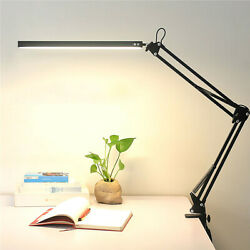 Desk Lamp with Clamp Eye Care LED Table Desktop Light Folding Swing Arm Dimmable $23.99