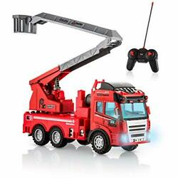 Fire Truck Toy Remote Control with Lights and Sounds Extending Rescue Ladder $51.75