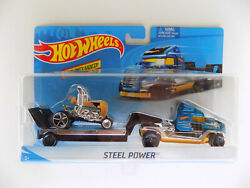 New Hot Wheels Super Rigs Blue Steel Power Semi Truck with Blown Tractor $16.50