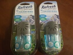 2 Pack Refresh Your Car Dual Scent Oil Wick air fresheners $5.99