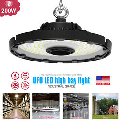 200W LED UFO High Bay Light Industrial Warehouse Commercial Light Fixture IP65