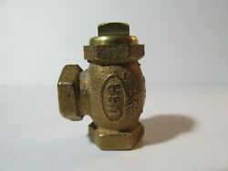LIVE STEAM LARGE SCALE 1 8quot; 27 NPT ANGLE CHECK VALVE New Train Parts USA $23.90