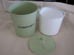 Exaco 2 N 1 Kitchen Compost Bucket w Sealable Lid Holds 1 Gallon Lt Green $19.90