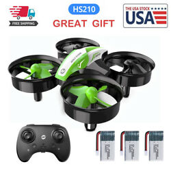 Holy Stone Mini RC Drone for Kid 3D Flips RC Quadcopter HS210 3 Batteries Gift $25.99