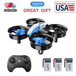 Holy Stone Mini Drone HS210 3D Flip RC Helicopter Quadcopter for Kids 3 Battery $27.99