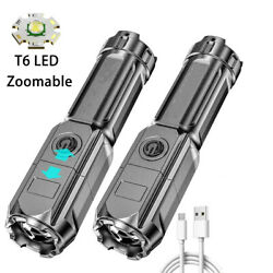 Super Bright Led Tactical Flashlight Zoomable Torch Rechargeable Camping Hiking $9.98