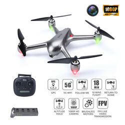 B2SEGPS 5G FPV RC Drone withHD 1080PCamera Brushless Quadcopter for Beginners $159.99