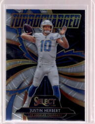 JUSTIN HERBERT 2020 Panini Select Turbocharged #T24 Rookie RC Chargers $9.99