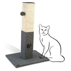 """Cat Scratching Post 32"""" Tall Cat post with Softball amp; Jingle Bell Toy $59.23"""