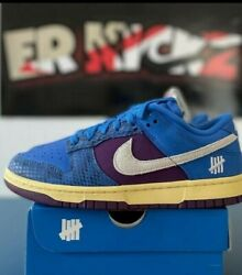NIKE UNDEFEATED DUNK LOW SIGNALBLUE WHITE NIGHTPURPLE Size 6.5 Mens IN HAND $175.00