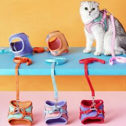 Cat Harness Leash Collar Escape Proof Kitten Vest Harness with Reflective Strap $10.92