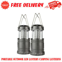2 Pack Portable Outdoor LED Lantern Camping Lanterns Water Resistant Sports $17.55
