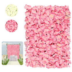 Artificial Silk Rose Flowers Wall Panel 24x16in Wedding Party Floral Wall Decor $30.99