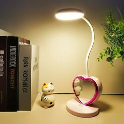 USB Eye Caring Study Table Lamp Bedroom Reading 2 Color Modes Light with Mirror $17.95