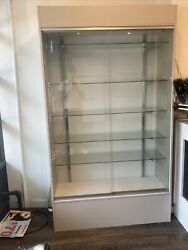 Wall White Display Show Case Retail Store Fixture with Lights Knocked down WC4WX $650.00