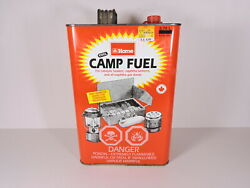 Vintage CAMP FUEL Nice Metal Naphtha Can EMPTY amp; DRY Coleman Lanterns Stoves $17.50