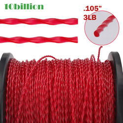 .105quot; 2.7 mm 3 LB Commercial Grade Round Twist Grass String Trimmer Line